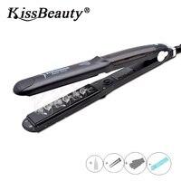Kissbeauty Steam Hair Straightener Hair Flat Iron Tourmaline Ceramic Vapor Hair Straightening Irons Hair Care Styling