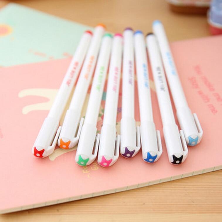 8pcs(colors)/set brand new korean premium 0.4mm needle tip multicolor gel pen excellent writing vivid color monami 208 q rapha korean pine needle soap gift set 3 pack