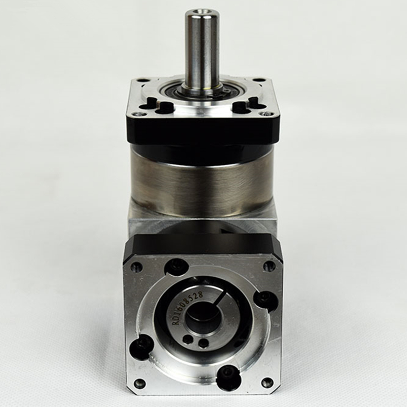 right angle 90 degree planetary gear reducer 15 arcmin ratio 15:1 to 100:1 for 60mm 200w 400w AC servo motor input shaft 14mmright angle 90 degree planetary gear reducer 15 arcmin ratio 15:1 to 100:1 for 60mm 200w 400w AC servo motor input shaft 14mm