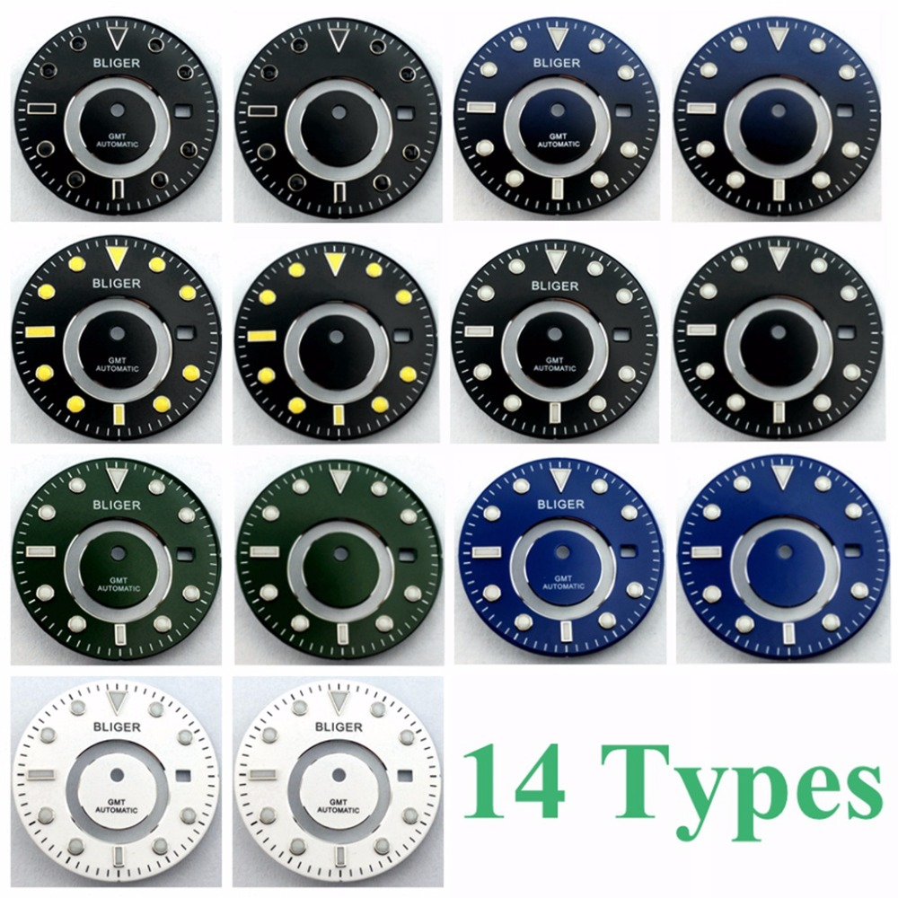 31.5mm Dial Fit Miyota8205/8215/821A, Mingzhu/DG2813/3804 Kit Steel Watch Dials (4 Colors)