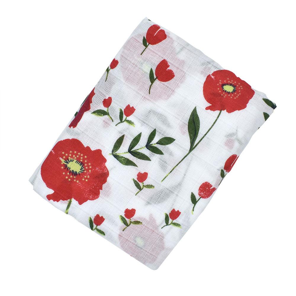 Детское полотенце-пеленка одеяло детская пеленка одеяло мусульманский мультфильм сон детская коляска душ многофункциональное детское одеяло уход за ребенком - Цвет: red flower