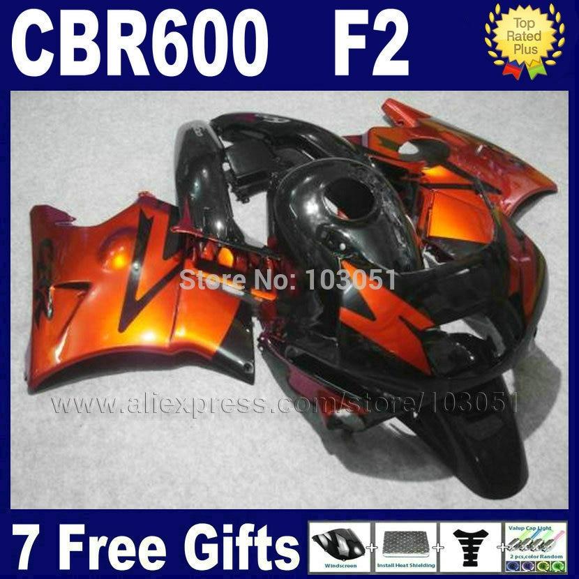 OEM  fairings for Honda 1991 1992 1993 1994 CBR 600 F2 CBR600 F 91 92 93 94 CBR600 F2 brown black fairing kits+ tank