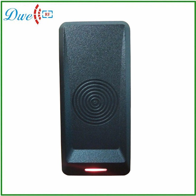 DWE CC RF Wiegand26 125KHz RFID ID Card tag keyfob Reader Waterproof Access control WG26 dwe cc rf 125khz em id wiegand 26 outdoor access control reader support tk4100 card ip65 002m 26