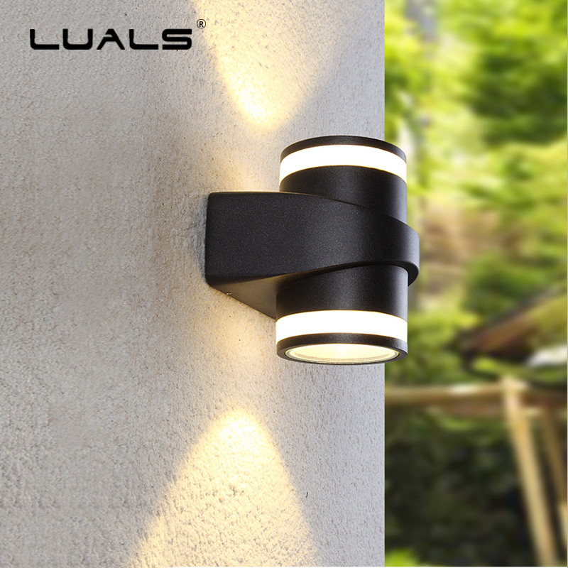 Waterproof Outdoor Garden Wall Lamp Simple Modern Wall Light Luxury Villa LED Art Wall Lamps Balcony Wall Lights Home Lighting led recessed wall light outdoor waterproof ip54 modern wall lamp for stairs art home decoration sconce lighting fixture 1097