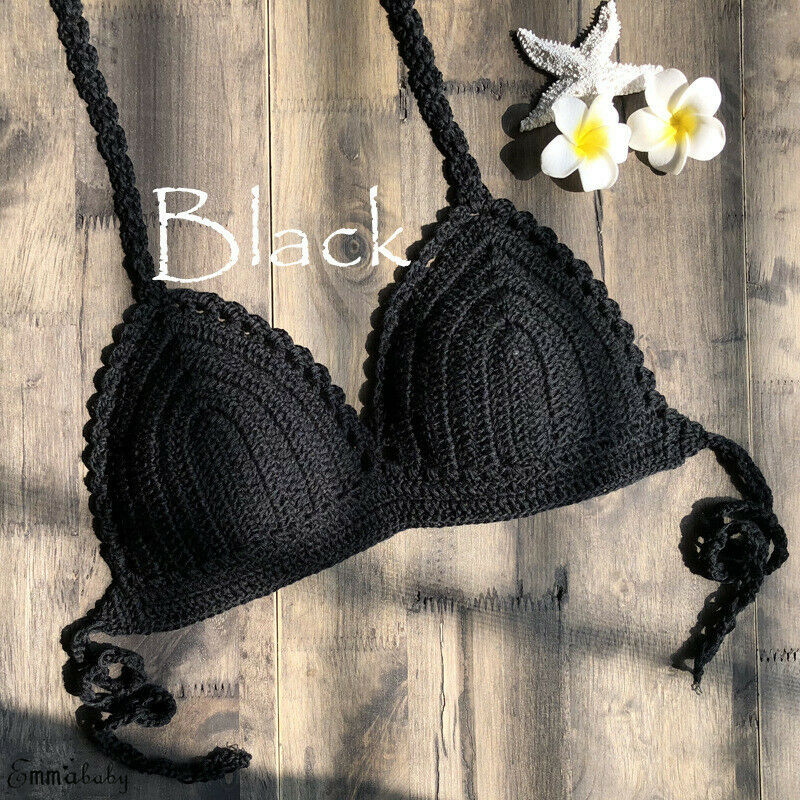 Summer Brand 2020 New Mujer Brazilian Crochet Bikini Swimsuit Micro Bikini Women Knitted Bra Swimwear Beachwear Mini Biquinis