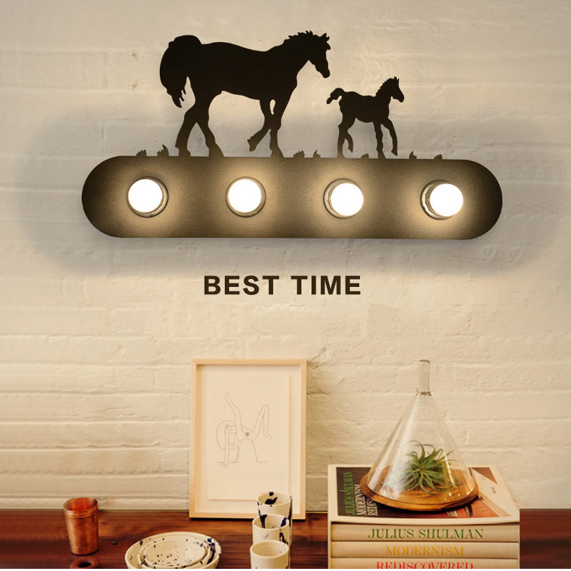wall mounted led wroguht iron lamp vintage edsion wall light 20W retro style bar restaurant living room bedside the ivory white european super suction wall mounted gate unique smoke door
