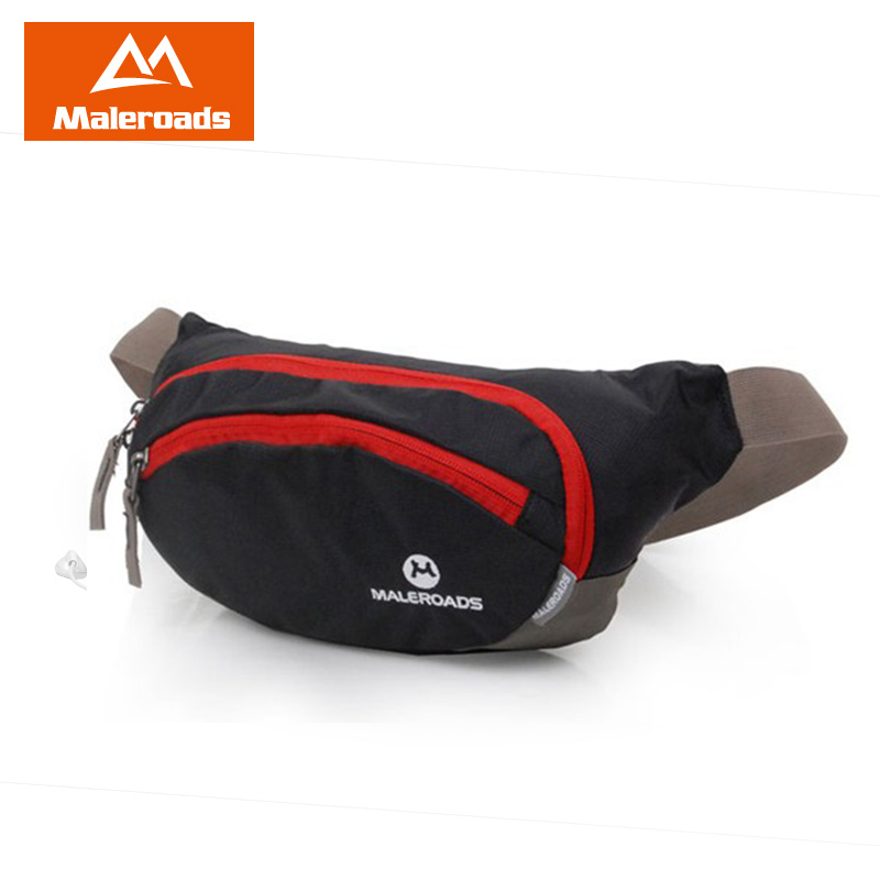Maleroads Running Waist Pack Waist Pouch Cycling Fanny Pack BELT BAG Large Capacity Hip Pack Hiking Bum bag Cashier Silver bag