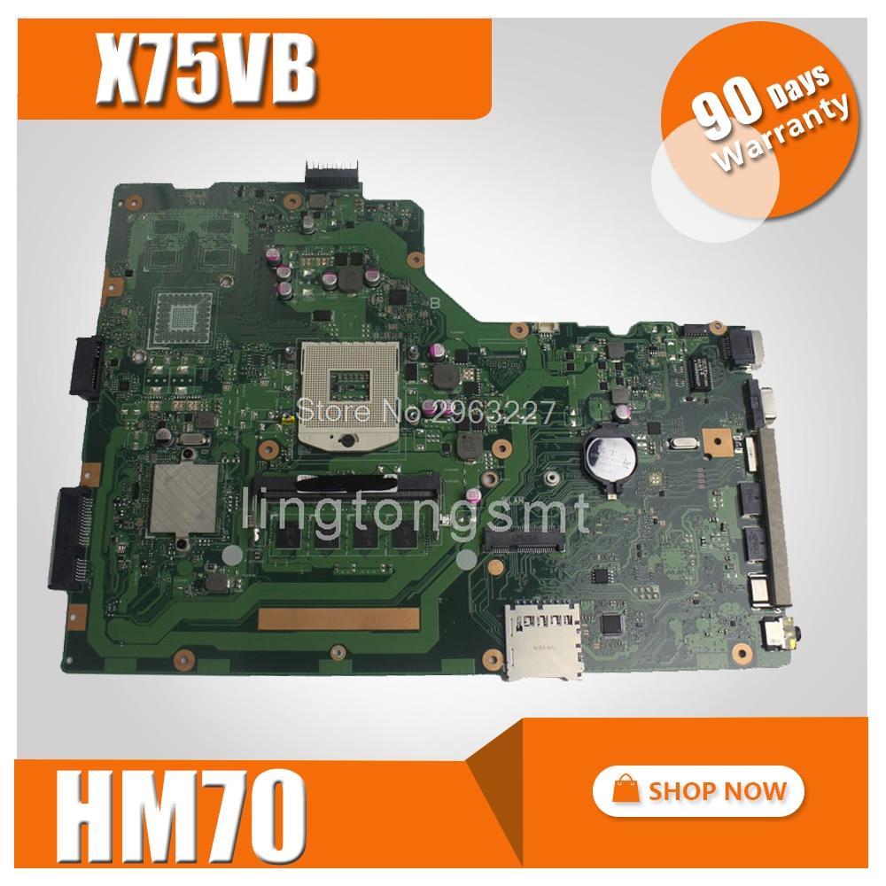 X75VB Motherboard REV:2.0 GT720M/2GB 4G Memory For ASUS X75VC X75VD X75V Laptop motherboard X75VB Mainboard X75VB Motherboard free shipping x75vd gt610m with 4g ram mainboard for asus r704v x75vd x75vb x75vc x75v motherboard rev 2 0 100