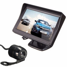 Car Monitor TFT Screen High Definition Rear View with Video CableAuto Parking Rearview Backup  #YL1