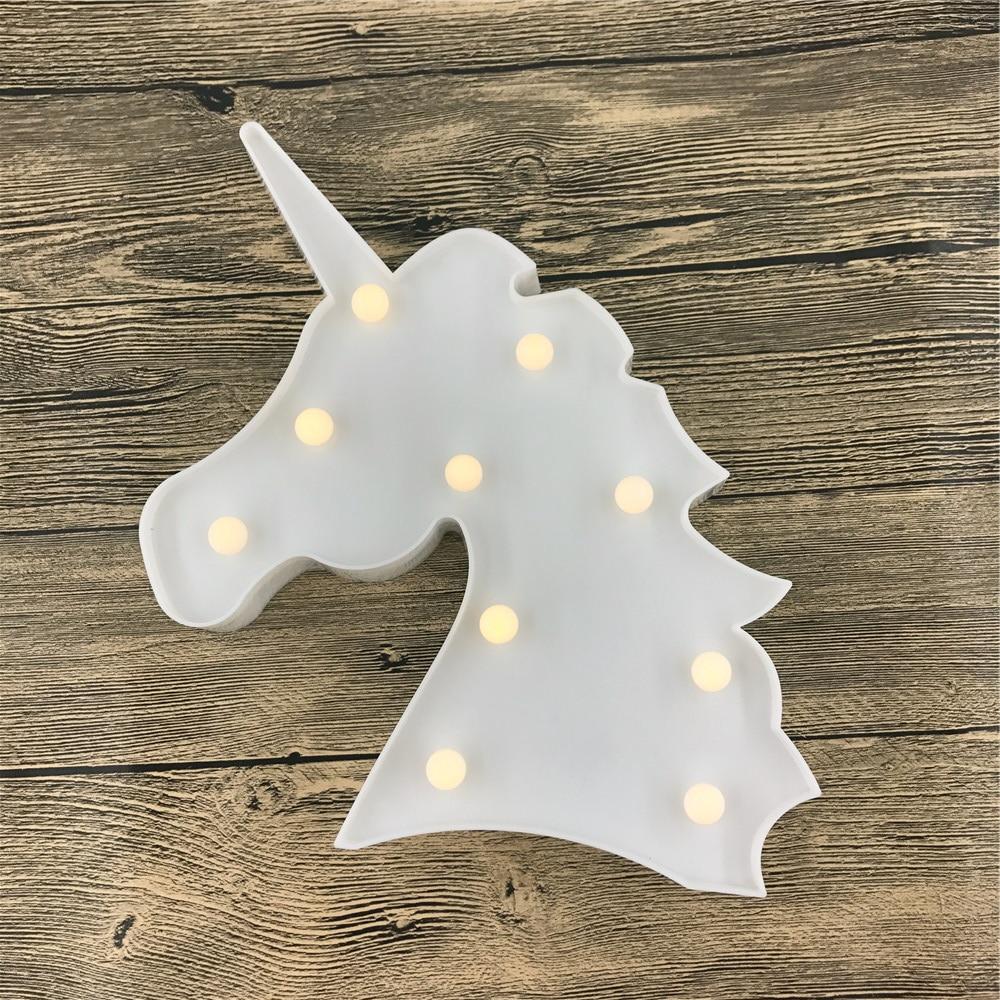 Novost samoroga v obliki glave živalska svetilka toplo bela sijaj 3D - Notranja razsvetljava - Fotografija 3