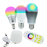 Milight Led Bulbs 4W 6W 9W GU10 E27 RGBW RGBWW Led Bulb Lamps Wireless Wifi Controller
