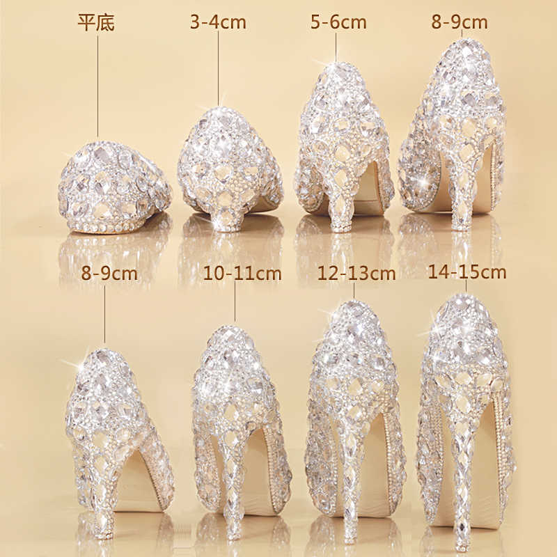 6daec133ba Detail Feedback Questions about Crystal Shoes Cinderella Women Heels ...
