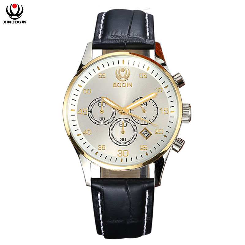 XINBOQIN Quartz Wristwatches Noctilucent Waterproof Brand Luxury Watch Man Stainless Steel Business Casual Fashion Male Watches watch men quartz top luxury brand guanqin watch stainless steel watches male casual watch waterproof luminous wristwatches man