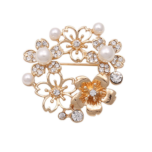 3b7ad79d74c Hot Sale Pear Brooches Fashion Flower Shape Brooches Rhinestone Cheap Price  Brooch For Women Wedding Dress Gift Free Shipping