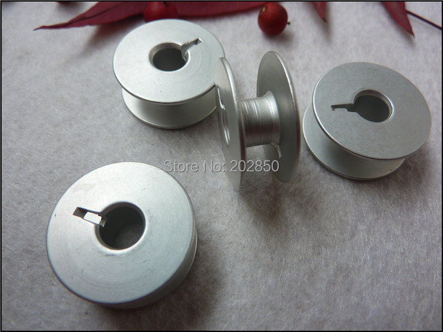 Industrial Embroidery Sewing Machine Aluminum Bobbins,Grooved,#55623A,W/ Height 8.8mm&OD20.8mm, 100Pcs/Lot,For Juki,Brother...