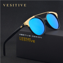 2016 Brand designer Round Sunglasses Women Oculos UV400 Points solar glasses trend Female eyewear Women's shades outside sports activities