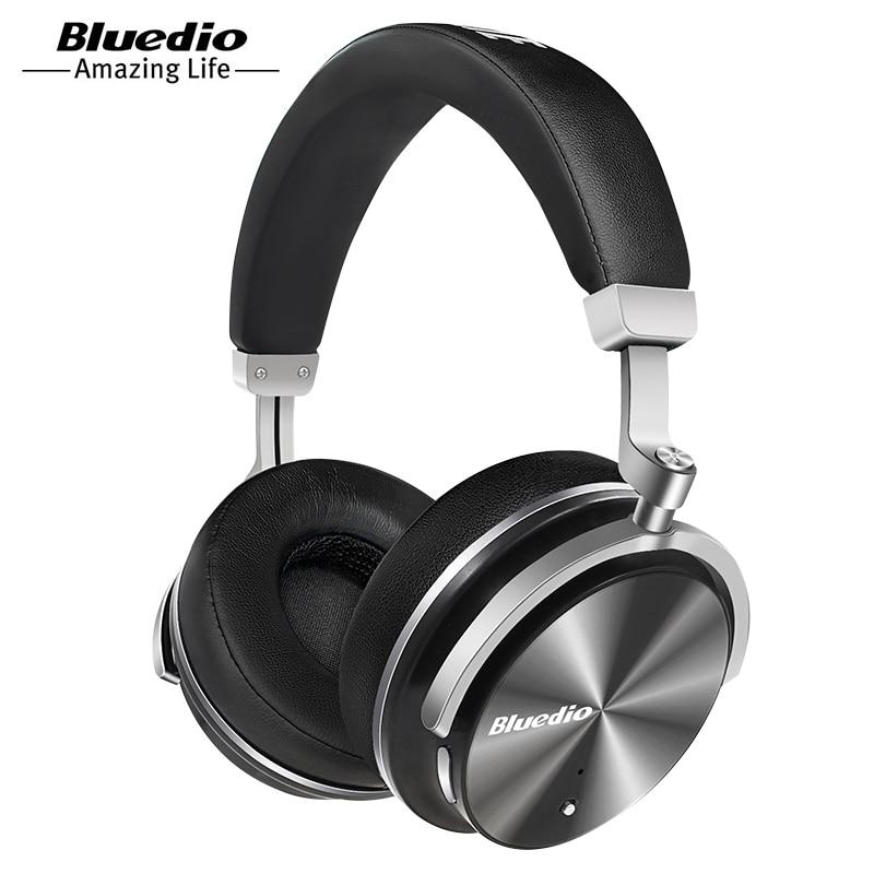 Bluedio T4 Portable suppression de bruit sans fil Bluetooth casque sans fil casque avec microphone musique pour téléphone Portable iOS