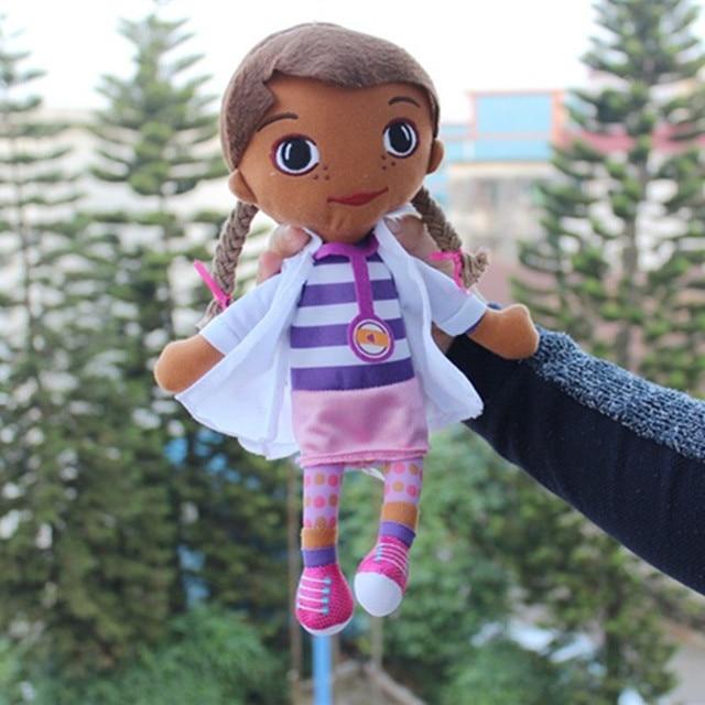 30cm Mcstuffins klinika lekarz pluszak dla dzieci lalki wypchane pluszowe zabawka w kształcie zwierzątka miękkie lalki dla dzieci Brinquedo dziewczyna prezent
