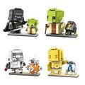 LOZ Мини Блоки BB-8 R2-D2 Мастер Йода Дарт Вейдер C-3PO Штурмовик Модель DIY Сборки Кирпичи Игрушки