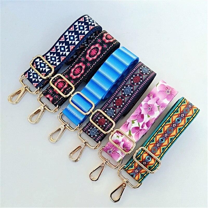 HJKL Colored Belt Bags Strap Accessories for Women Rainbow Adjustable Shoulder Hanger Handbag Straps Decorative Handle chain bag(China)