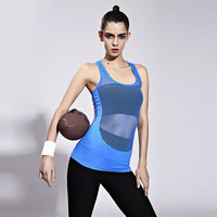 GERTU 2017 New Summer Grid Vest Sexy Tank Tops Women Plus Size Quick Dry Loose Sleeveless