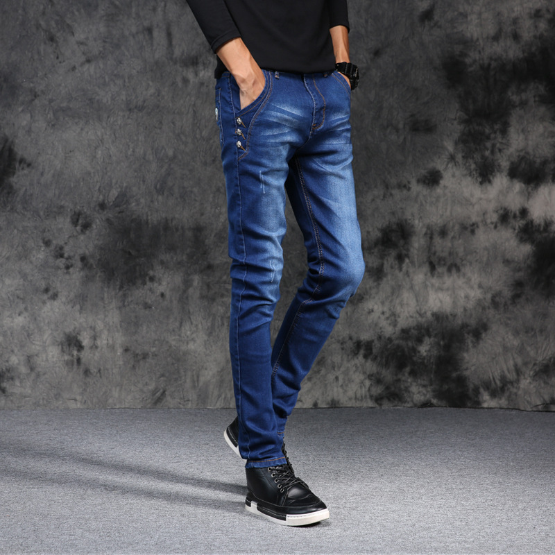 Joker vogue of new fund of 2017 autumn winters is cultivate one's morality straight   jeans   young men   jeans