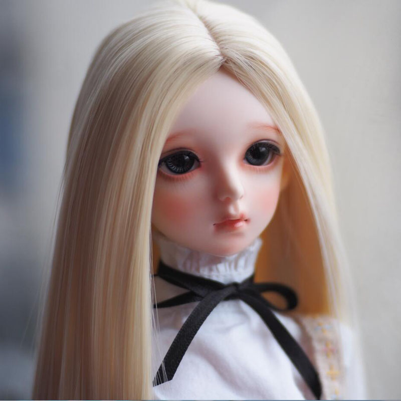 1/3 1/4 1/6 Bjd SD Doll Wigs High Temperature Wire Long Blonde Straight Synthetic Doll Wig For Dolls Accessories newest 1 3 1 4 1 6 bjd sd doll wig wire light blonde colors high temperature bjd super dollfile for doll hair wig