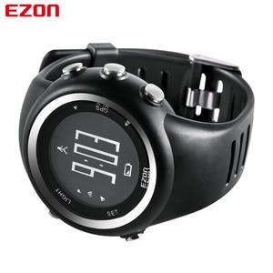 Image 3 - EZON T031 erkek GPS spor saatler 50M su geçirmez mesafe hız kalori sayacı GPS zamanlama çok fonksiyonlu dijital bilek saatler