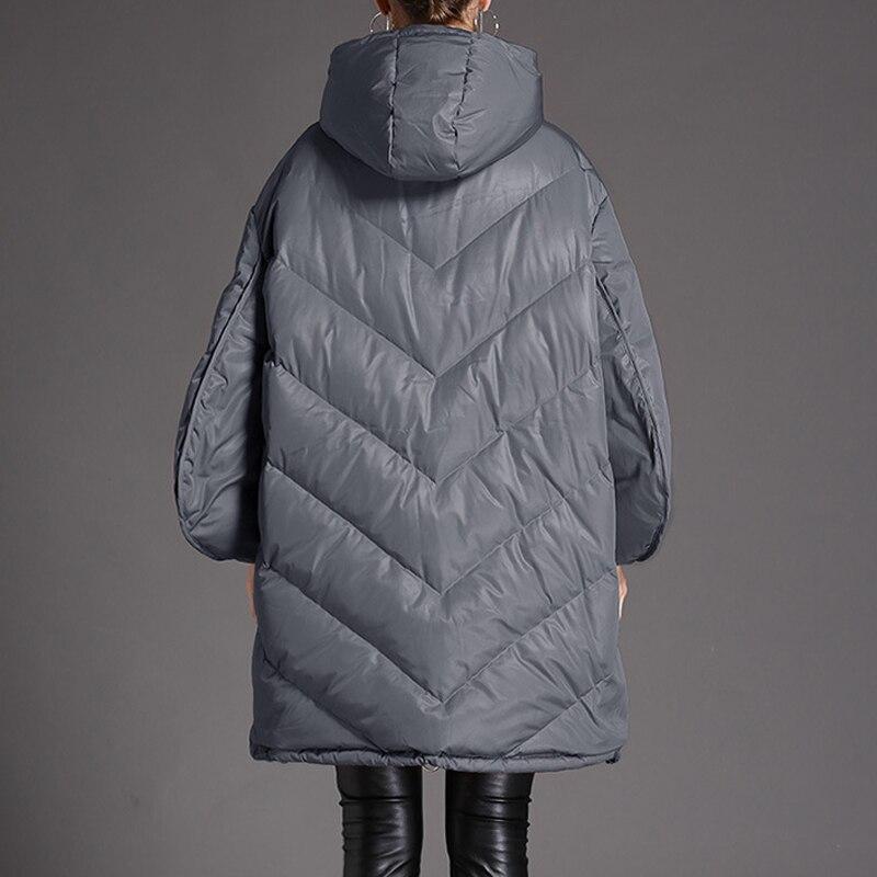 Supérieure Lâche Manteau 2019 Chapeau Vêtements Parka Grande Taille Porter De Canard Qualité Neige Européenne Veste Blanc Oversize D'hiver Femmes Gris Duvet Qh005 8wXwEx