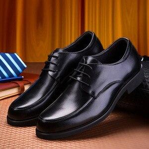 Image 4 - REETENE Oxford Schuhe Für Männer Kleid Schuhe Runde Kappe Business Hochzeit Männer Formale Schuhe Hard Tragen Retro Schuhe Männer