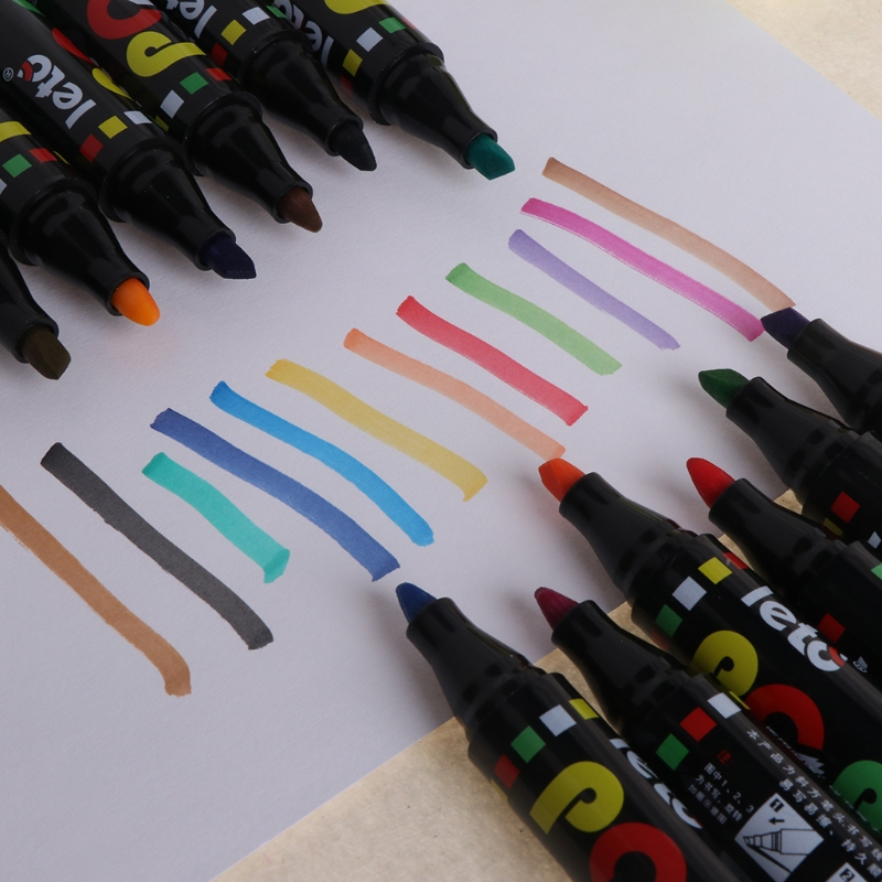 12 Color Whiteboard Marker Erasable POP Paper Glass Dry Erasing 5mm Writting Pen 4