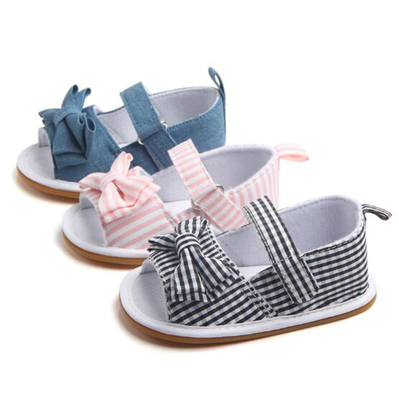Fashion Plaid Baby Shoes Summer Infants Girls Bebe First Walkers