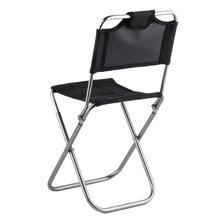 OUTAD Portable Folding Outdoor Fishing Camping Chair Aluminum Oxford Cloth Chair with Backrest Carry Bag Black free shipping