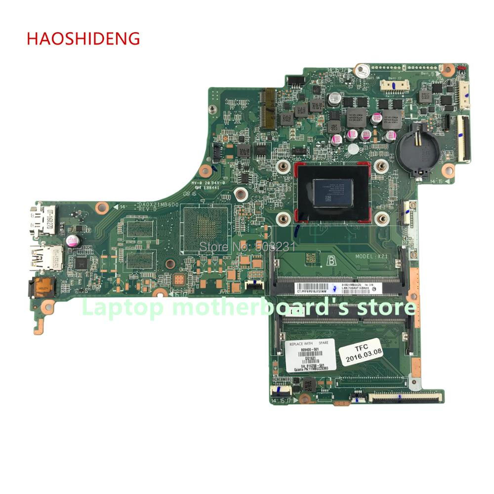 HAOSHIDENG 809400-601 809400-501 X21 DA0X21MB6D0 for HP PAVILION 17-G 17Z-G 17-G218CY motherboard with A10-8700P fully Tested jialuowei extreme fetish 7 high heel long boots gothic punk drag queen then heel lace up zip over the knee thigh ballet boots