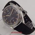 Автоматические Мужские часы C130 с черным циферблатом и перламутровым начесом  41 мм  Sapphire Glass seg-gull