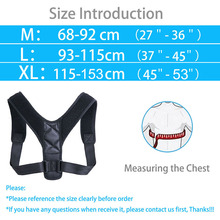 Adjustable Back Posture Corrector Brace Support Belt