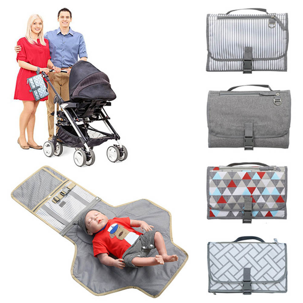 Newborns Foldable Waterproof Changing Pad Diaper Portable Baby Diaper Cover Mat Clean Hand Folding Diaper Bag Play Mat