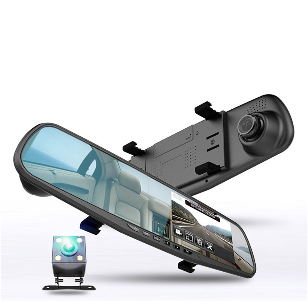 SCCJGL Car Dvr Camcorder Camera Rearview-Mirror Dual-Lens Registratory Full-Hd 1080P