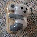 Coala dos desenhos animados de cerâmica Dresser Knob gaveta Handle crianças Animal do bebê crianças móveis puxadores alças Pull Hardware