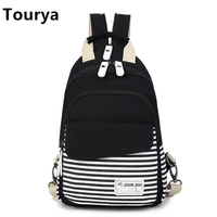 Tourya Fashion Canvas Women Shoulder Backpack Crossbody Bags For Teenagers Girls Sport Bags Casual Shoulder Sling