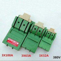 Three Phase Knife Three Single Phase High Power Switch Knife Switch Open Load Switch 3 32A