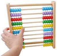 Darmowe wysyłki Dla Dzieci drewniane zabawki, zabawki edukacyjne dla dzieci, matematyka zabawki, pionowe 10 obliczeń, Abac POMOCE dydaktyczne