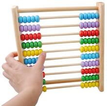 Free shipping,wooden toys, vertical 10 calculation, the abacus, childrens educational mathematics teaching AIDS