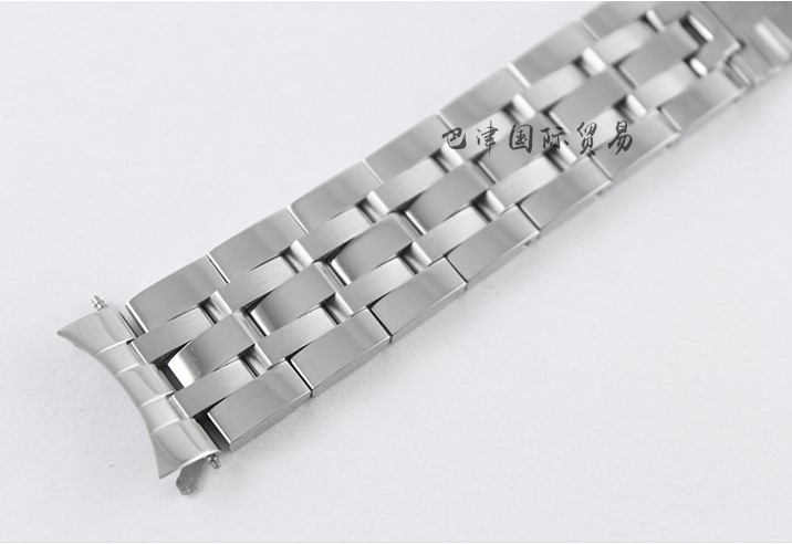 Купить с кэшбэком 19mm/20mm PRC200 T17 T461 T014430A T014427A T014410A Watchband Watch Parts male strip Solid Stainless steel bracelet strap