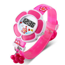 New Lovely Flower Cute Kids Watches Children LED Wa