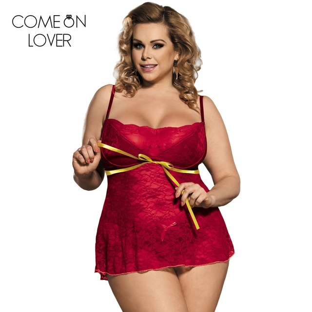 b752ccb0996 RE80247 Newest arrival transparent lace nightgown hot women erotic dark red  lingerie new popular sexy lady plus size babydoll