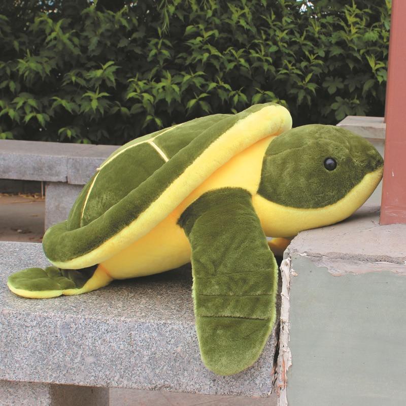 free shipping , cute green turtle large 55cm tortoise plush toy, soft throw pillow birthday gift b4951 plush toy turtle large turtles doll big fluffy pillow doll birthday gift to men and women turtle about 55cm