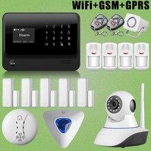 Etiger G90B Wirelss WiFi GSM GPRS Sistema de Intrusión Sirena de Destello + HD Cámara IP