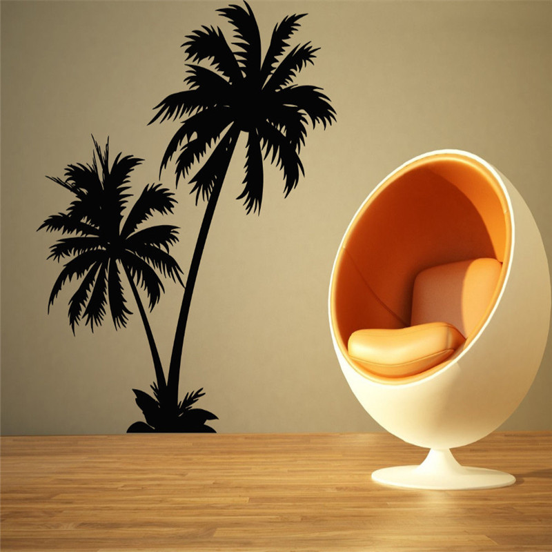 Home Decor Cool Coconut Palm Tree Mural Wall Stickers Wall Decals Living Room Art Decor Size Interior Decoration