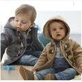Venta al por menor 2016 de los bebés Ropa de abrigo niños chaqueta de Invierno Primavera Niños prendas de Vestir Exteriores gruesa niño abrigo niño del muchacho outwear chaquetas